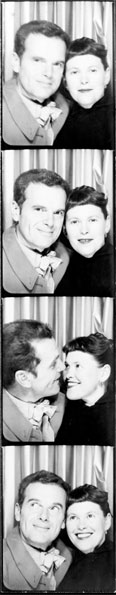 Charles and Ray in a Photobooth